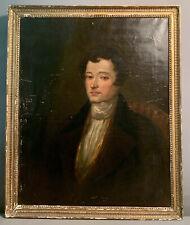New listing 1820's Antique 19thC Regency Distinguished Gentleman Oil Portrait Old Painting