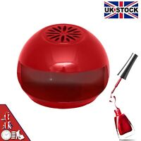 NAIL DRYER EASY QUICK BLOW POLISH DRY FAN PORTABLE BEAUTY MANICURE PEDICURE RED