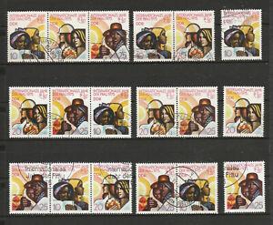 """DDR Briefmarken Kombi-komplett """"Jahr der Frau 1975"""" Mi. 2019-21 gest."""