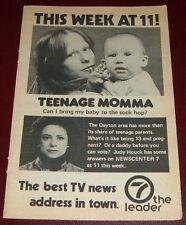 1980 WHIO DAYTON,OHIO TV NEWS AD~JUDY HOUCK REPORTS TEENAGE PREGNANCY~sock hop