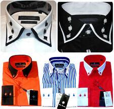 Striped Big & Tall Single Cuff Formal Shirts for Men