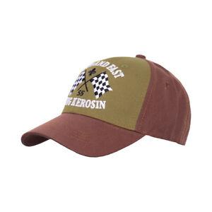 King Kerosin Loud & Fast Trucker Cap Braun / Olive SIZE S/M