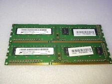 8GB (2x4GB) MICRON DDR3-1600MHz 1Rx8 PC3-12800U-11-11-A1 Desktop RAM Memory