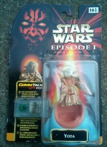 Star Wars Episode 1 Yoda on Council Chair with Comm Talk chip On European Card