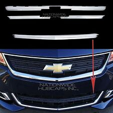2014-2017 IMPALA LS CHROME Snap On Grille Overlay Front Grill Bar Covers Inserts
