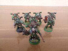 Warhammer 40K Space Marine Chaos Death Guard Plague Marines Metal OOP Painted