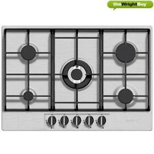 Baumatic BHG720SS Five Burner 70cm Wide Gas Hob in Stainless Steel & Cast-Iron