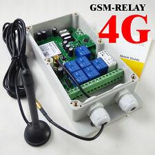 4G GSM Remote Control Relay - 7 Relays - USA/Mexico/Canada - DC Powered