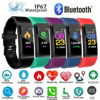 Women Men Kid Fitness Smart Watch Activity Tracker Fitbit Android iOS Heart Rate