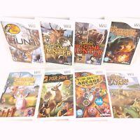Lot of 8 Wii Hunting Games Bass - Pro Shops Hunt, Cabela's Big Game Hunter, More