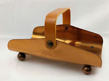 Vintage Chase USA Copper Footed Dish Tray Butterscotch Bakelite Handle Art Deco