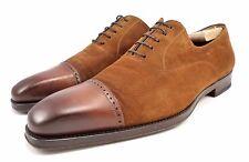 Magnanni Men's Suede & Leather Lace Up Oxfords Brown Shoes Size 11.5 M, US 12