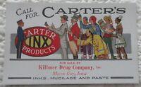 Vtg Ink Blotter CARTERs INX  Killmer Drug Mason City IA Indian Gypsy Chinese man