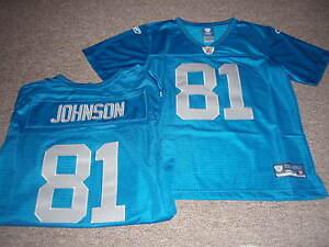 REEBOK WOMEN'S NFL PREMIER DETROIT LIONS CALVIN JOHNSON THROWBACK JERSEY SIZE XL