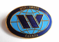 WORLDWAYS Canada Canadian Charter Airlines Defunct LOGO Badge