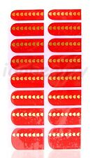 NAIL ART STICKER  DECAL DESIGN FOR NAILS 16 WRAPS COLOUR RED GOLD HEART