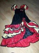 Size Medium Forum Novelties Salsa Dancer Dance Costume Dress Red Black Ruffles