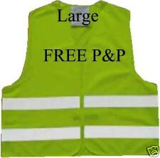 Hi viz vest high visibility waistcoat safety cycling running work night vis bike