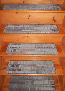 "16  Step  9'' x 30''  + 1 Landing 27"" x 29""   Art Dec Nylon Stair Treads"