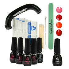 9W LED UV Lamp Dryer Soak off Nail Polish Remover Pad Base Gel Topcoat Tips Kit