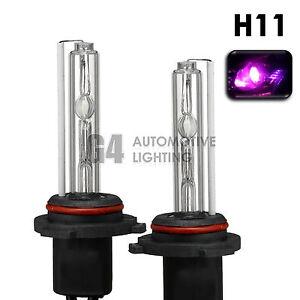 2X NEW HID XENON H11 Headlight/Fog Light HID Bulbs AC 35W 12000K Pink Purple
