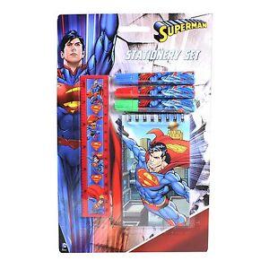 Superman 5 Piece Stationery Set - Notepad, Ruler & Mini Felt Pens