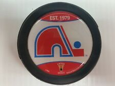 Quebec Nordiques Puck Men's Ice Hockey Glossy Dome Logo Black NHL