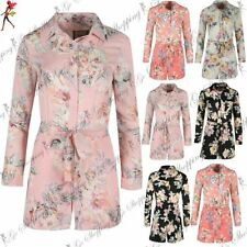 Polyester Collared Floral Jumpsuits & Playsuits for Women