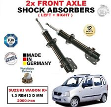 FRONT LEFT + RIGHT SHOCK ABSORBERS SET for SUZUKI WAGON R+ 1.3 2000-> RB413 D MM