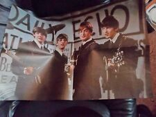 THE BEATLES GENUINE EARLY GIANT POSTER PYX ORIGINAL 1964 PERFECT CONDITION ACE!