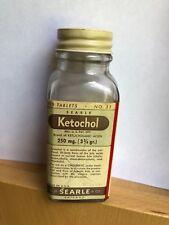 Vintage SEARLE Medicine Tablets Bottle With Contents