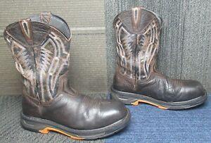Mens ARIAT Workhog XT Dare Carbon Toe Leather Work Boots sz 10.5 D