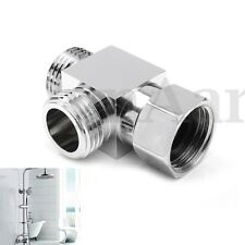 Bathroom G1/2 Male Thread & Female Thread 3 Way T-adapter Shower Diverter Chrome