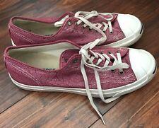 Converse Jack Purcell Pink Maroon Wavy Fashion Sneakers Size 10 Men 11.5 Women
