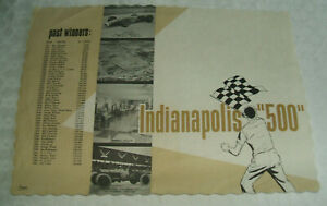 Indianapolis Indy 500 Jim Clark PAPER PLACEMAT, NEW