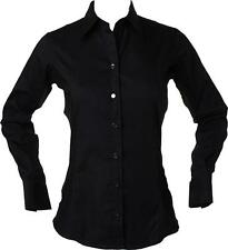 Cotton Collared Patternless Blouses for Women