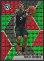 2019-20 Panini Mosaic Choice GREEN and RED #238 Keldon Johnson RC Rookie Spurs