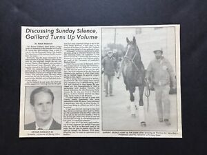 SUNDAY SILENCE 1989 PREAKNESS STAKES clipping Daily Racing Form Pimlico Racetrac
