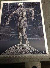 "Of Mice & Men American Tour Poster 18""x24"" Vhtf"
