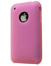 Housse silicone ondes rose pour iphone 3G 3GS