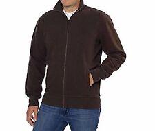 Kirkland Signature Men's Full Zip Sweatshirt Zipper Sweatshirt Brown Large Size