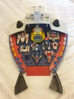 Vinatge Bluebird 1986 Manta Force Command Ship With Vehicles And Figures