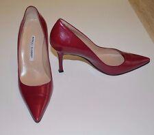 Beautiful Designer MANOLO BLAHNIK Burgundy Pump Shoes Size 37-1/2