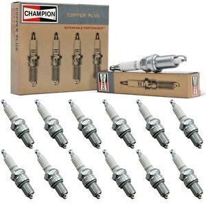 12 Champion Copper Spark Plugs Set for 1934 PIERCE-ARROW MODEL 1248A