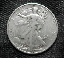 1945-S Liberty Walking 90% Silver Half Dollar F- VF Nice Condition.