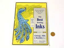 More details for pictorial peacock gittings,hills & boothby printing inks advertisement go-with.