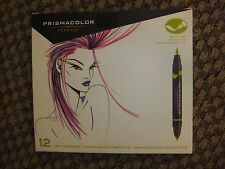Prismacolor Double End Brush/Fine Tip Marker Primary/Secondary Set of 12