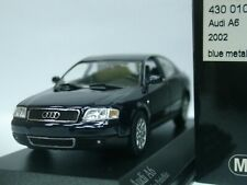 WOW EXTREMELY RARE Audi A6 C5 3.0 30V Saloon 2002 Facelift Blue 1:43 Minichamps