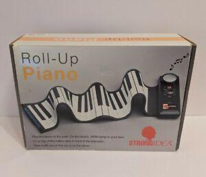 STRONGIDEA Battery Roll Up Piano Keyboard 49 Key 4 Octave 100 Rhythms TE355L