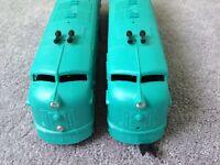 Marx prewar E-7 TEAL BLUE Diesel Locomotives AB Boxed hardly run 10994D Nce